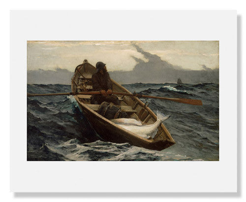 MFA Prints archival replica print of Winslow Homer, The Fog Warning from the Museum of Fine Arts, Boston collection.