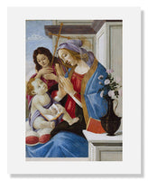 MFA Prints archival replica print of Sandro Botticelli, Virgin and Child with Saint John the Baptist from the Museum of Fine Arts, Boston collection.