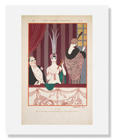 "MFA Prints archival replica print of George Barbier, ""La Loge"" from the Museum of Fine Arts, Boston collection."