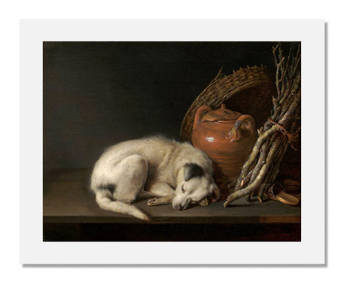 MFA Prints archival replica print of Gerrit Dou, Dog at Rest from the Museum of Fine Arts, Boston collection.
