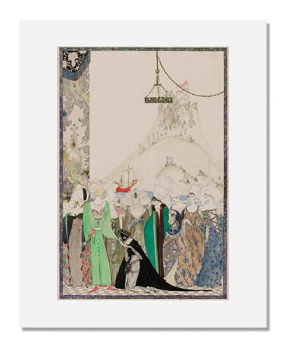 "Kay Nielsen, ""How Joan the Maid, clad in page's dress, had an audience of the Dauphin Charles,"" illustration from the Joan of Arc series"