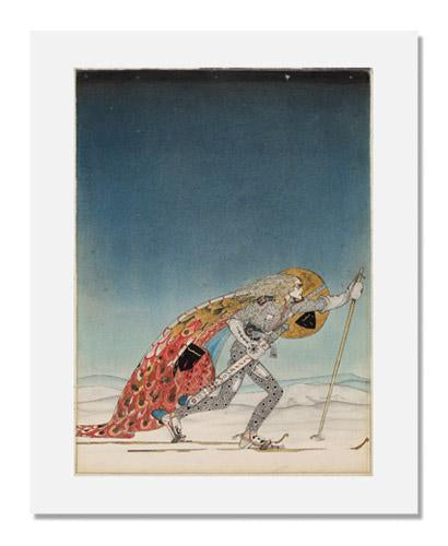 "Kay Nielsen, ""So the man gave him a pair of snow-shoes,"" illustration to The Three Princesses of Whiteland"