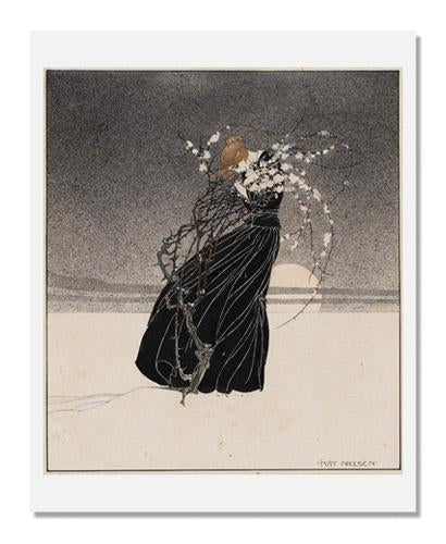 Kay Nielsen, Young woman embracing a hawthorn bush, related to Hans Christian Andersen's The Story of a Mother