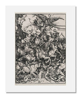 MFA Prints archival replica print of Albrecht Dürer, The Four Horsemen (Apocalypse) from the Museum of Fine Arts, Boston collection.