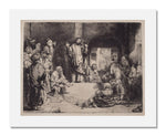 "MFA Prints archival replica print of Rembrandt van Rijn, Christ Preaching (""La Petite Tombe"") from the Museum of Fine Arts, Boston collection."