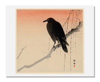 MFA Prints archival replica print of Okuhara Seiko, Crow on Willow Branch from the Museum of Fine Arts, Boston collection.
