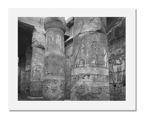 Unidentified artist, Columns in the Ramesseum