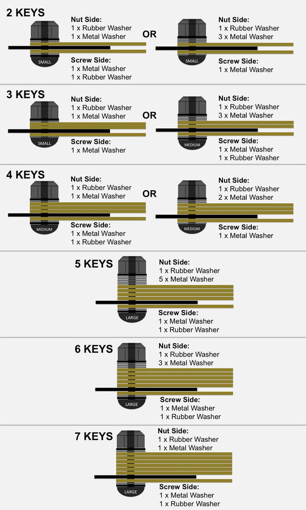 ARKTYPE - Silencer Key Organizer / Bottle Opener - Example Setup Reference Graphic
