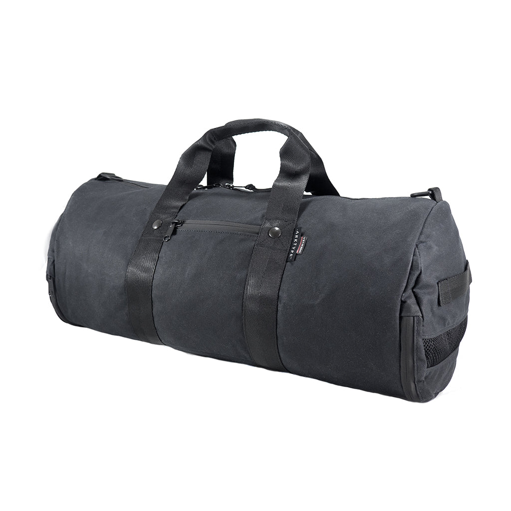 959d85eb07723b Boltpack - 30L Duffel - Special Edition Waxed Canvas - Black | ARKTYPE