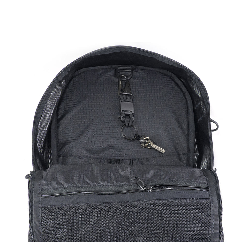 ARKTYPE Dashpack Backpack - Charcoal - Open - Interior Ceiling D-Ring 822c513342