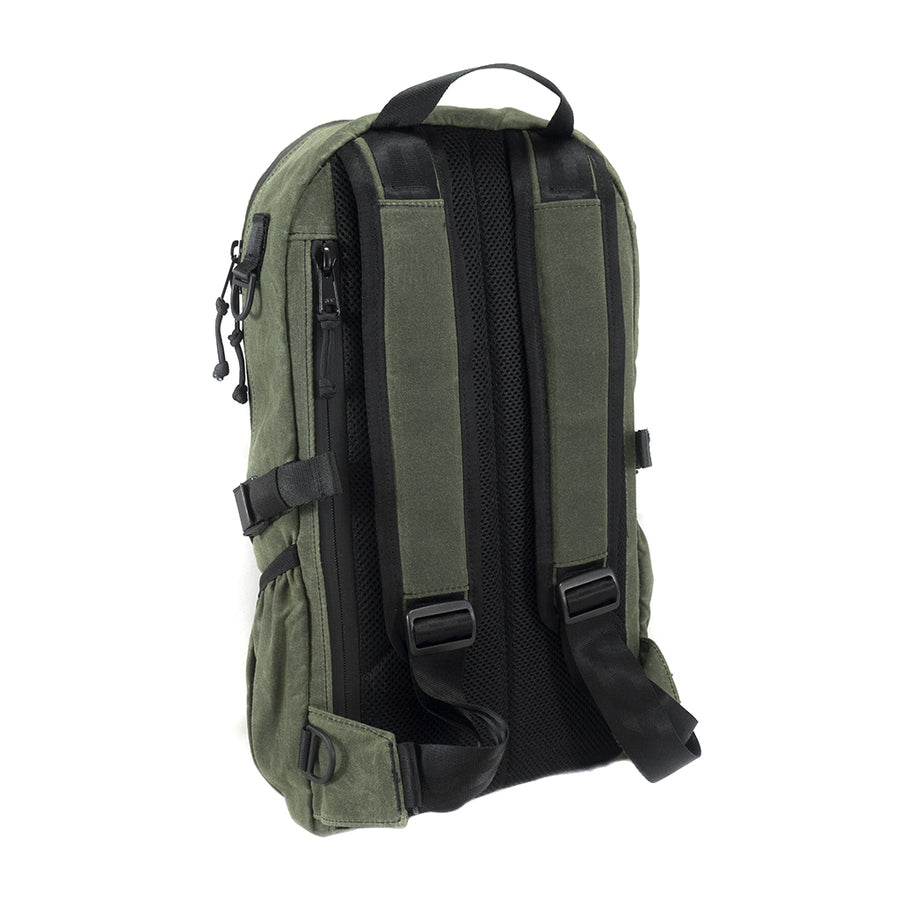 ARKTYPE Dashpack Backpack - Olive Drab Waxed Canvas - Perspective