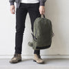 ARKTYPE Dashpack Backpack - Olive Drab Waxed Canvas - Top Handle Carry