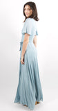 Mohea Wrap Maxi Dress Sterling Blue