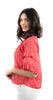 Kaye Tiered Sleeve Blouse Coral