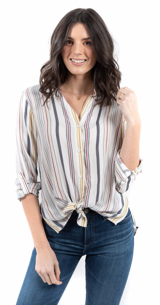 Stripe Button Down Top