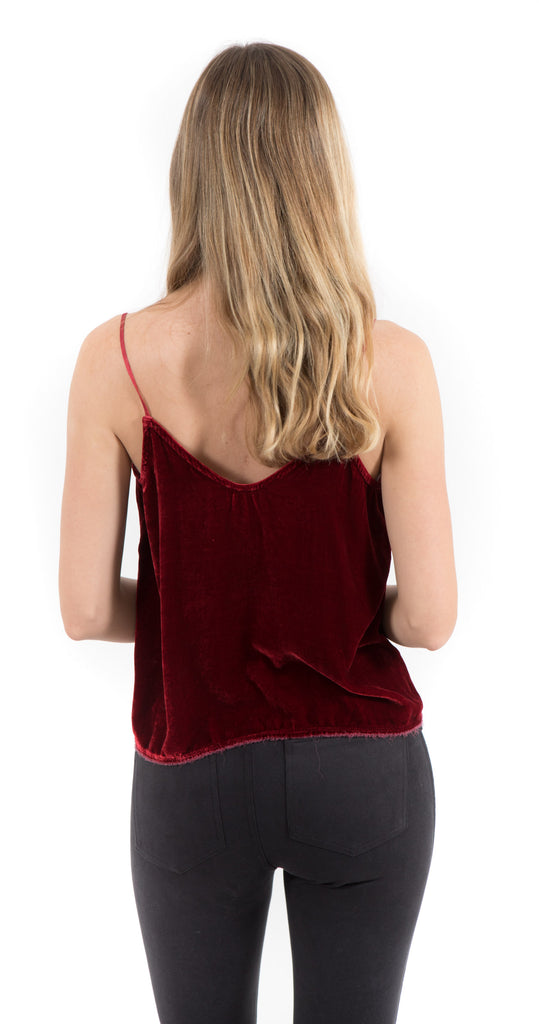 Aya V Back Cami Rouge