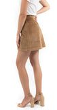 Button Front Skirt Camel