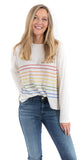 Thin Rainbow Stripe LS Vanilla