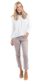 Elsa Mid Rise Slim Fit Crop Thistle