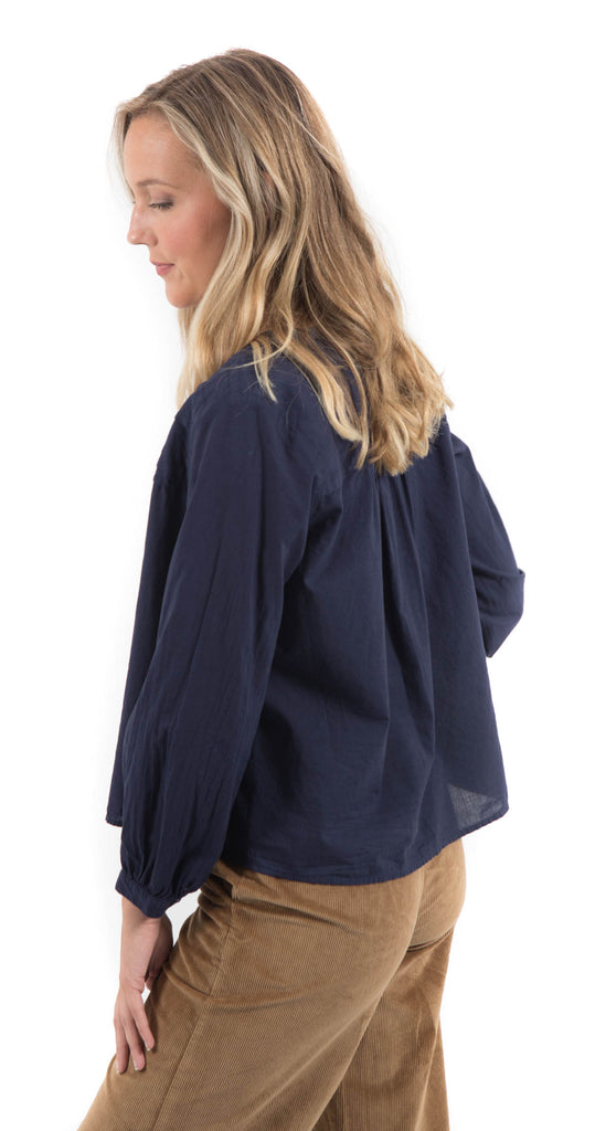 Riley Cotton Top Peacoat