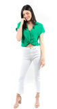Demy Cropped Flare White