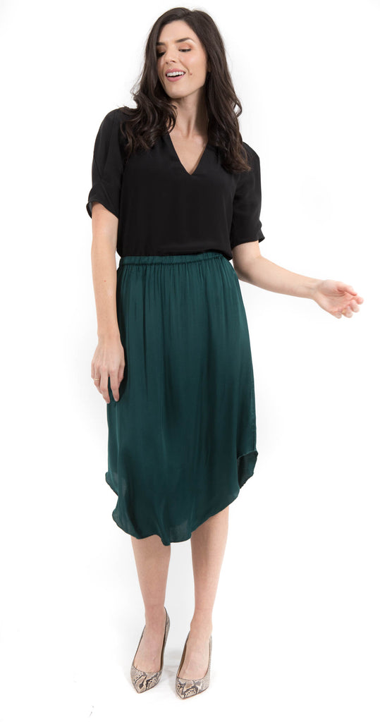 Lewis Skirt Forest Green