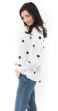 Dots & Hearts Sweatshirt White