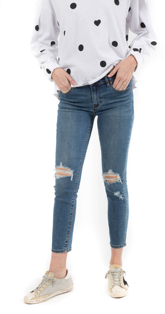 Tally Midrise Skinny Crop B-Good Wash