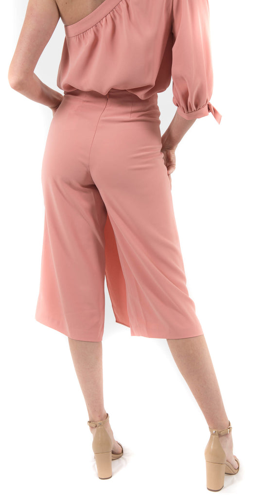 Wrap Front Trousers Coral Rose
