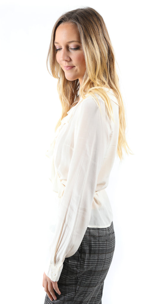 Hayley Wrap Top Ivory