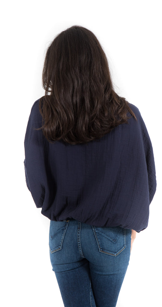 Wide Body Elastic Top with Tape Navy