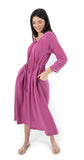 Darren Gauze Dress Dark Orchid