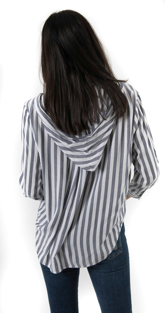 Cook Shirt Black/White Stripe