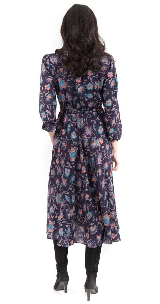 Phoebe Dress Dark Ink