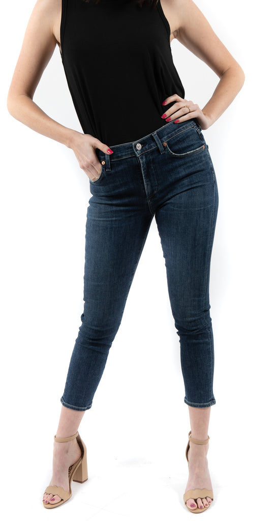 Rocket Crop High Rise Skinny Caramel