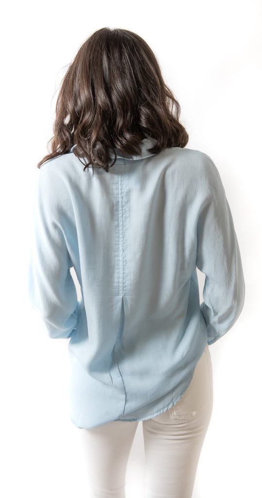 Half Hidden Placket Button Down Sky Way