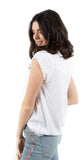 Fray Short Sleeve Top White