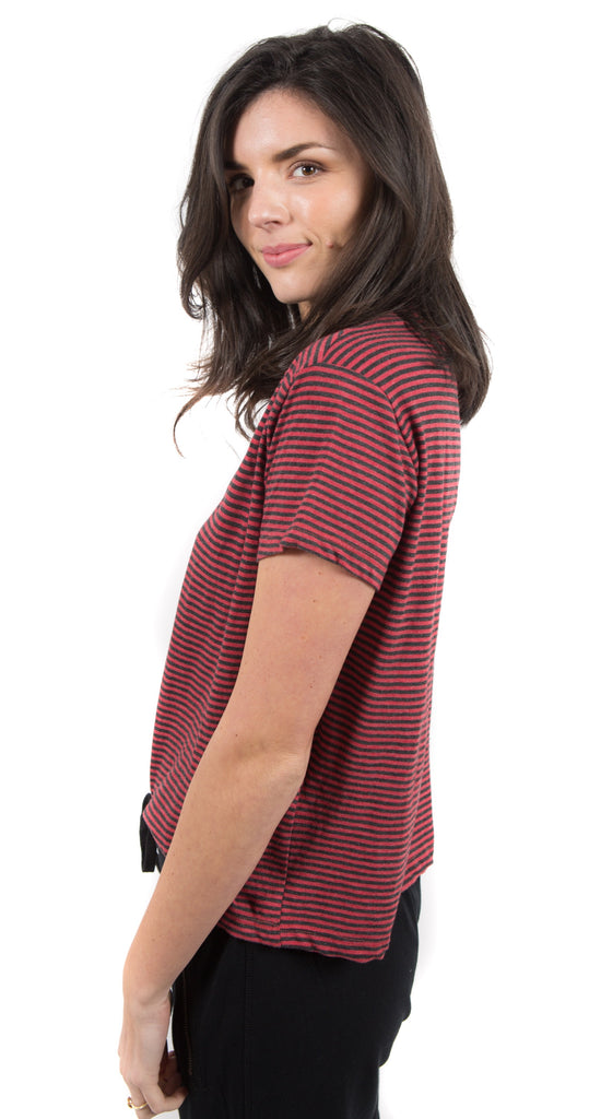 Loved Stripe Tee Holly