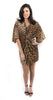 Dolman Twist Front Dress Camel Multi