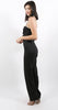 Nelia Solid Jumpsuit Black Linen