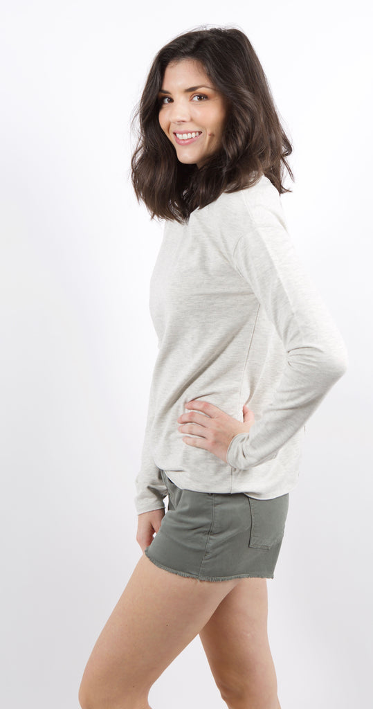 The Dubbo Lace Up Pullover Dove