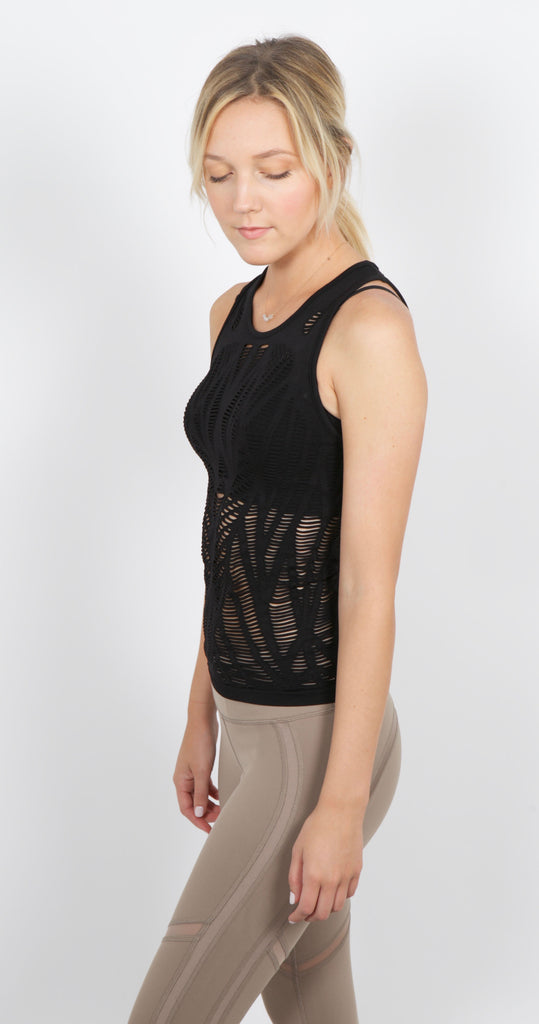 Vixen Fitted Tank Black