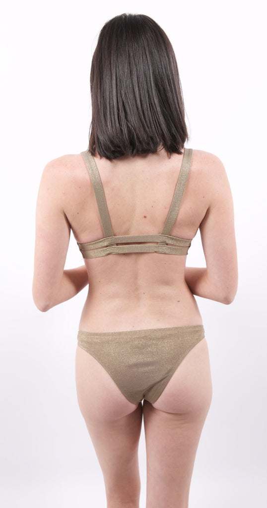 Neutra Bralette Top Bronze Metallic
