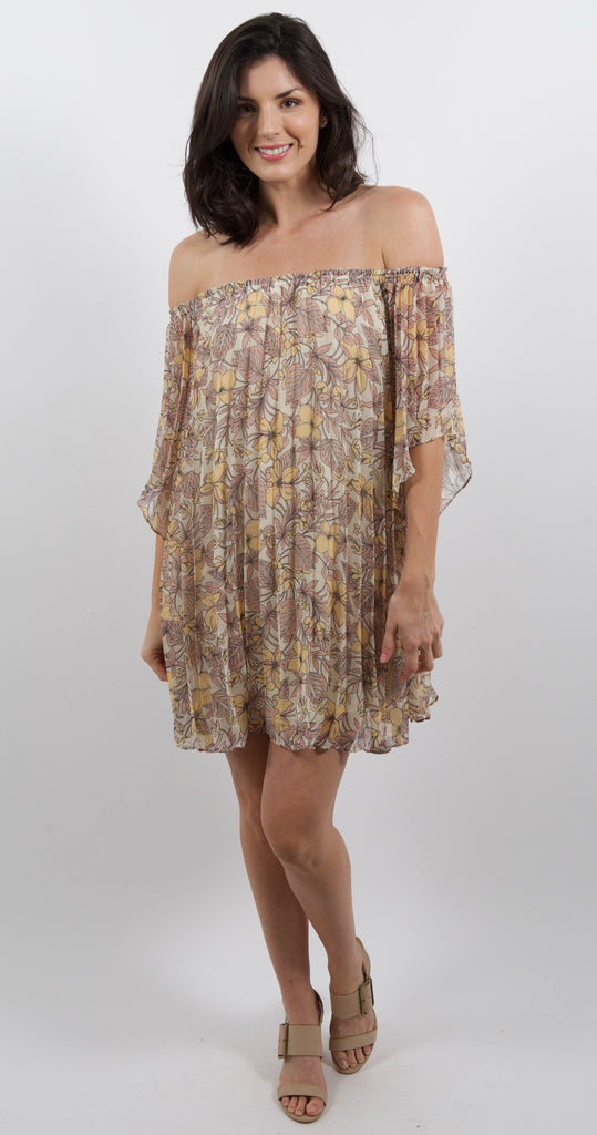 Frangapani Mini Dress Floral Print