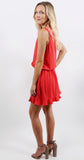 Surplice Dress Cayenne