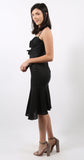 Nelia Soild Dress Black
