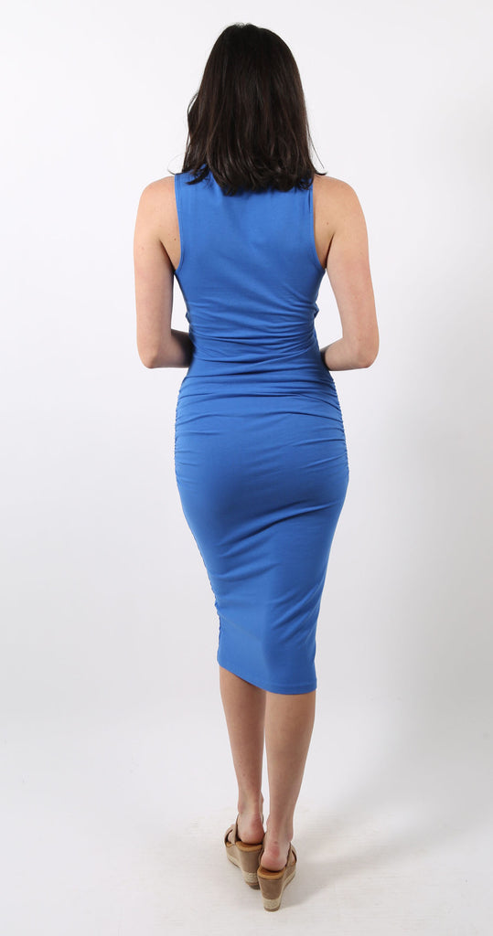 Sleeveless Crossover Midi Dress Marina