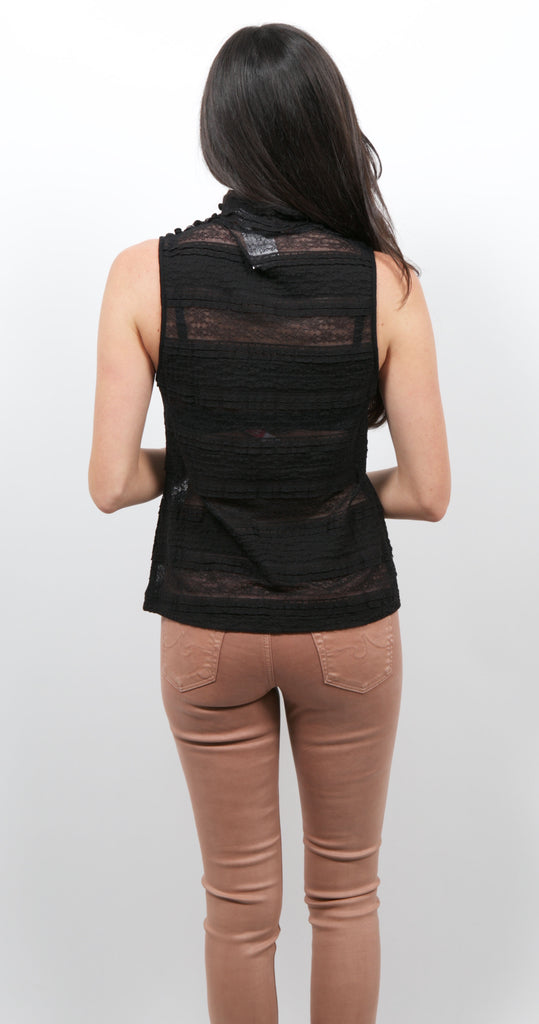 High Neck Tank Black