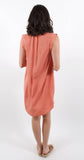 Capsleeve Pleat Front Dress Coral Dawn