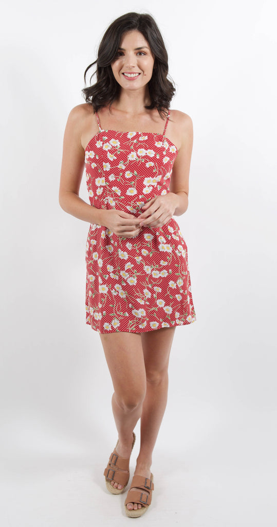 Day Party Mini Dress Red